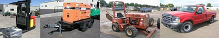 contractors and rental yard equipment consignment auctions