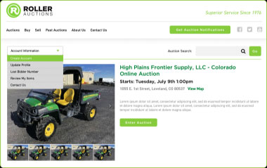 Register to bid on Roller Auctions